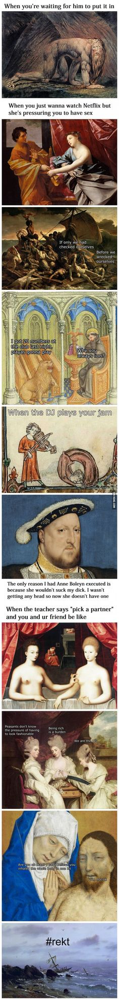Classical Art Memes Latest (Part-2) Art, history and haha..