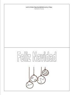 Tarjetas de navidad para imprimir: Tarjeta de bolas de navidad
