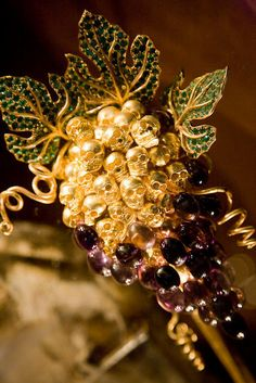 Jewelry designed by Salvador Dali grapes