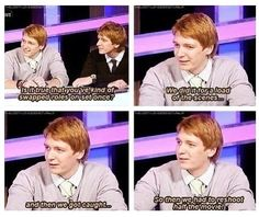 Hahaha the harry potter cast gives some hilarious interviews! hahaha