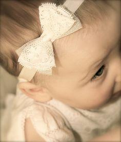 Amber Flower Girl Lace Headbands, Lace Baby Headbands, Baby Girl Headbands, Girls Silk Hairbands, Infant Headbands, Christening Headbands baby,Baby Bow Headbands