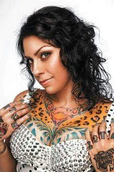 Chest tattoo design for girls