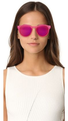 56a5f60815 Le Specs Hey Macarena Sunglasses Ray Ban Round Sunglasses