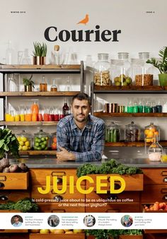 Courier, February 2015 Courier-stories of modern business. We look into the emerging cold press juice sector in our cover story, an urban forage and wild cook in Courier Life, a look into the world of Kitsuné, who are the bankers fleeing the city to start up businesses and more.