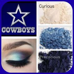 Look your best on game day and support the Dallas Cowboys with these fabulous Younique Pigments and Fiber Lash! Eye Makeup, Makeup List, Makeup Ideas, Hair Makeup, 3d Fiber Lash Mascara, Fiber Lashes, Dallas Cowboys Makeup, Cowboy Nails, Cow Boys