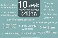 10 simple ways to bless your boys.