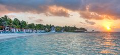 Sunrise, Bahia Kantenah.  El Dorado Seaside Suites by Karisma.  Riviera Maya Mexico