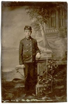 Originally pinned as a post-mortem, I believe this young Civil War Veteran was alive.