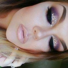 Nice purple sparkly makeup