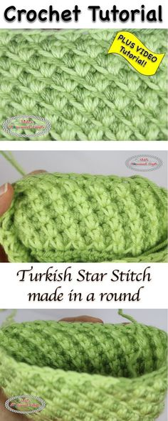 Turkish Star Stitch - Crochet Tutorial by Nicki's Homemade Crafts