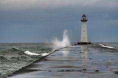 Lighthouse at Sodus Point, NY