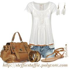 """""""Casual White Lace"""" by steffiestaffie on Polyvore"""