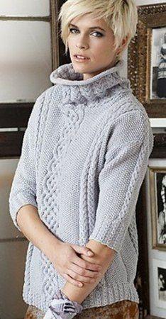 Вязание спицами свитера с горлом для женщин и девушек: схема с описанием