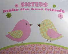 Sisters Rock - Kids Wall Art Children's Room Decor Nursery Room Art by vtdesigns, $14.00