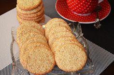 Шедевры кулинарии: Хрустящее печенье с кунжутом