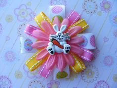 Easter Bunny Hair Bow by LivelyGirlDesigns on Etsy, $4.00