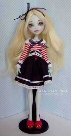 Monster High Custom Lagoona Blue Doll Repaint OOAK by MissNakoDoll:
