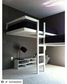 Due #figli ed una sola #cameretta, ecco la soluzione che tiene conto anche del #design…#realestate #immobiliare #remax #roma #monteverde #lb #Repost @homeadore with @repostapp ・・・ Awesome loft beds!...
