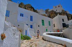 Coloured windows in Serifos island