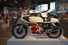 (Lower) 1971 Triumph Trident Production Racer (upper) 2008 Triumph Street Tracker