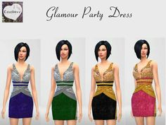 The Sims Resource: Glamour Party Dress by Cocobuzz • Sims 4 Downloads