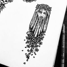 """Poison Apple Printshop on Instagram: """"It is said that the dead are crowned with Henbane as they walk along the River Styx, deep in the underworld. My last few Henbane drawings…"""" Apple Tattoo, Poison Apples, Sketchbook Drawings, Underworld, Occult, Faeries, Artsy Fartsy, Mystic, Original Artwork"""