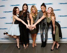 Ashley Benson, Shay Mitchell, Lucy Hale, Troian Bellisario and Sasha Pieterse at the SiriusXM Studios in NY