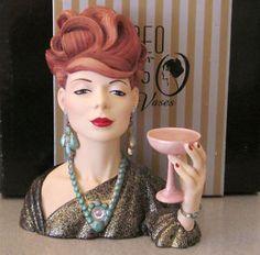 images of head vases Head Planters, Hat Stands, Vintage Planters, Half Dolls, Wall Pockets, Doll Head, Ceramic Vase, Vintage Ceramic, Flower Vases