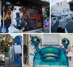Athens has so many great street art pieces. In this post I share the best ones! #travel #athens #streetart