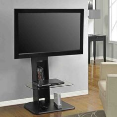 Best Buy: Altra Furniture Galaxy TV Stand with Mount for Flat-Panel TVs Up to Black 1705096 Small Tv Stand, Black Tv Stand, Tv Stand With Mount, Bedroom Tv Stand, Bedroom Sets, Master Bedroom, Bedroom Modern, Dream Bedroom, Restaurants