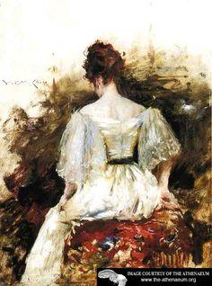 Portrait of a Woman: The White Dress  William Merritt Chase