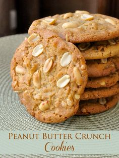 Peanut Butter Crunch Cookies. Up the ante on traditional peanut butter cookies with the addition of roasted peanuts and crispy rice cereal. The perfect after school cookie with a tall glass of ice cold milk.