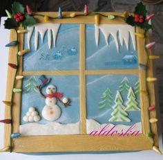 DORTY A SLADKOSTI aneb PEČEME S LÁSKOU - Fotoalbum - -MOJE PEČENÍ- - MOJE DORTY - My cakes - Zimní okno pro vnuka mé spolužačky Jarky