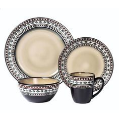 Lorren Home Trends 16-Piece Casual Neutral Stoneware Dinnerware Set (Service for 4) LH519 - The Home Depot Stoneware Dinnerware Sets, Porcelain Dinnerware, Tableware, Modern Dinnerware, Kitchenware, Top 10 Christmas Gifts, Thoughtful Christmas Gifts, Rustic Closet, Earth Tone Colors