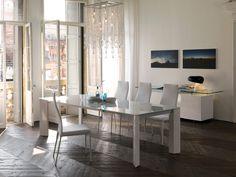 Cattelan Italia ausziehbarer Esstisch Brera Weißglas kaufen im borono Online Shop