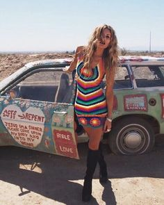 colorful hippie girl