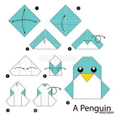 Simple origami Dress Step by Step Instructions . Fresh Simple origami Dress Step by Step Instructions . Step by Step Instructions How to Make origami A Penguin Origami 3d, Design Origami, Origami Dragon, Origami Paper Art, Origami Bookmark, Origami Butterfly, Useful Origami, Paper Crafting, Origami Eagle