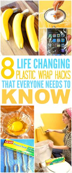 These 8 life changing plastic wrap hacks are THE BEST! I'm so glad I found these…