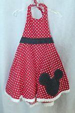 Custom Hand Made Minnie Mouse Halter Dress Girls 3T-4T