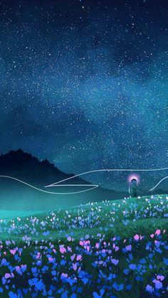 Night Sky Stars Beautiful Art iPhone Wallpaper Source by Scenery Wallpaper, Nature Wallpaper, Wallpaper Backgrounds, Trendy Wallpaper, Iphone Wallpaper Art, Iphone Wallpaper Illustration, Weather Wallpaper, Night Sky Wallpaper, Beautiful Wallpaper