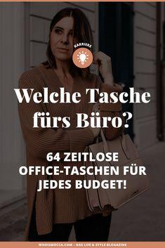 Welche Tasche fürs Büro? Eine Frage, die sich so spontan nicht beantworten lässt. Auf dem Mode und Karriere Blog verrate ich dir die wichtigsten Tipps vor einem Kauf und zeige dir 64 wunderbare Office Bags, die absolut zeitlos sind. www.whoismocca.com #bürotasche #karriereblog #officebag
