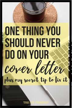 Make sure you avoid this one cover letter mistake to make sure your application is read. Then, check out my secret tip to fix it AND guarantee your cover letter stand out. These tips on how to write a cover letter will definitely make sure you have a mode Cover Letter Format, Cover Letter Tips, Cover Letter Design, Writing A Cover Letter, Cover Letter Example, Cover Letter For Resume, Cover Letter Template, Cover Letters, How To Make Resume