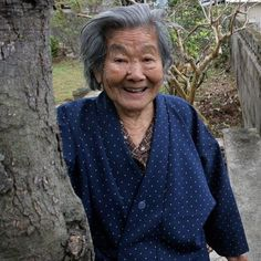 """What's Kamada's secret to living to age 102? """"It took me a long time to realize that beauty is within. It comes from not worrying so much about your own problems. Sometimes you can best take care of yourself by taking care of others. """" """"Eat your vegetables, have a positive outlook, be kind to people, and smile"""" #BlueZones #Okinawa"""