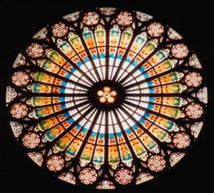 I want to hang a stained glass window over the window.