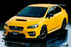 """The Subaru WRX STI made its debut at the 2015 Tokyo Motor Show, limited to just 400 units and being labeled as the """"world's most enjoyable vehicle. 2015 Subaru Wrx, Subaru Cars, Subaru Impreza, Jdm Cars, 2016 Wrx, Sti Car, Colin Mcrae, Tokyo Motor Show, Japan Cars"""