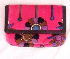 Emilio Pucci vintage hot pink velvet floral clutch di dsmacintyre, $450,00