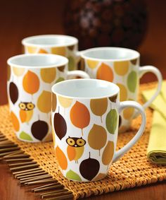 Take a look at this Little Hoot Mug - Set of Four by Rachael Ray on #zulily today!