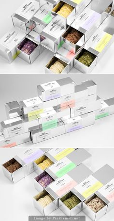 Neat Confections designed by Anagrama Baking Packaging, Biscuits Packaging, Skincare Packaging, Cake Packaging, Brand Packaging, Packing Box Design, Cookies Branding, Biodegradable Packaging, Tea Design