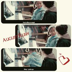 August Rush - awkward moment when someone adores you..  So funny bu sweet ❤