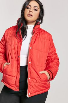 c92bed7a006 Product Name Plus Size Zip-Up Puffer Jacket